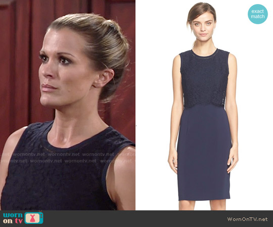 Rebecca Taylor Lace Bodice Sleeveless Dress worn by Melissa Claire Egan on The Young & the Restless
