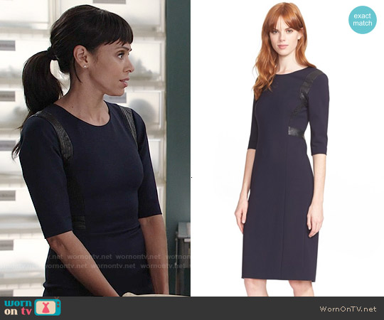 Rebecca Taylor Leather Trim Sheath worn by Tamara Taylor on Bones
