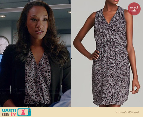 Rebecca Taylor Leopard Print Silk Dress worn by Candice Patton on The Flash