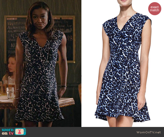 Rebecca Taylor Lynx Print Dress worn by Patina Miller on Madam Secretary