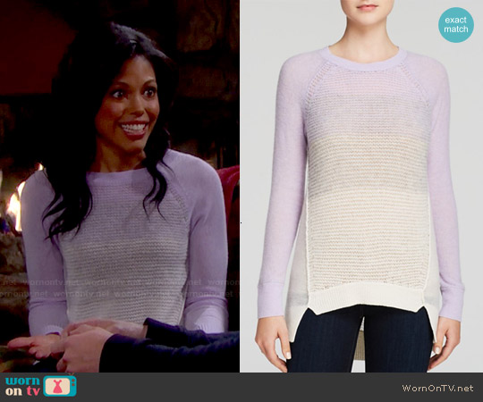 Rebecca Taylor Ombre Pullover worn by Karla Mosley on The Bold & the Beautiful