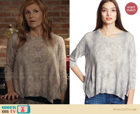 Rebecca Taylor Python Sweater worn by Connie Britton on Nashville