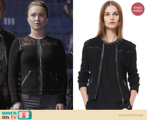 Rebecca Taylor Quilted and Lace Jacquard Jacket worn by Hayden Panettiere on Nashville