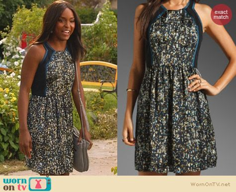 Rebecca Taylor Sequin Printed Dress worn by Antoinette Robertson on Hart of Dixie