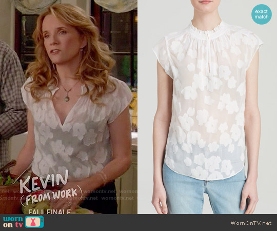 Rebecca Taylor Sheer Floral Top worn by Lea Thompson on Switched at Birth