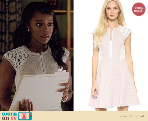 Rebecca Taylor Sleeveless Lace Dress worn by Aja Naomi King on HTGAWM
