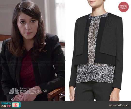 Rebecca Taylor Smooth/Textured Layered Jacket worn by Sheila Vand on State of Affairs