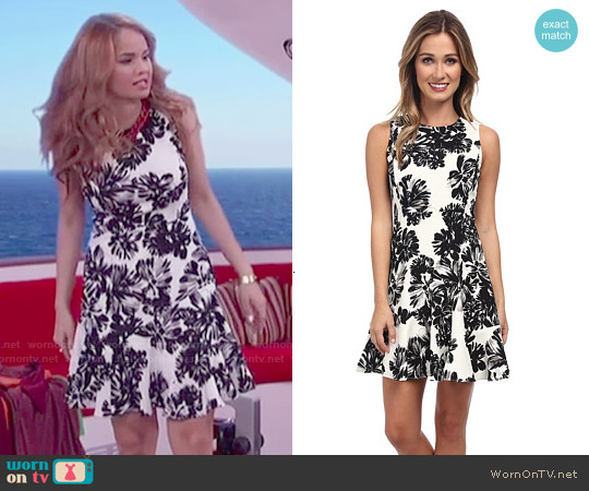 Rebecca Taylor Splashy Flower Flippy Dress worn by Debby Ryan on Jessie