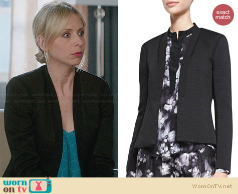 Rebecca Taylor Structured Open Front Jacket worn by Sarah Michelle Gellar on The Crazy Ones