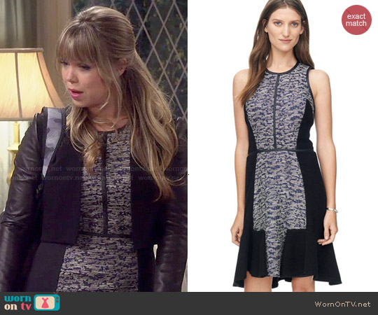 Rebecca Taylor Textured Dress worn by Amanda Fuller on Last Man Standing