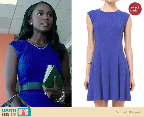 Rebecca Taylor Textured Ponte Dress worn by Aja Naomi King on HTGAWM