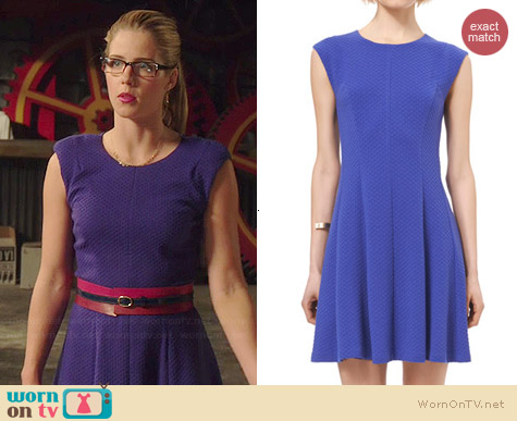 Rebecca Taylor Textured Ponte Dress worn by Emily Bett Rickards on Arrow