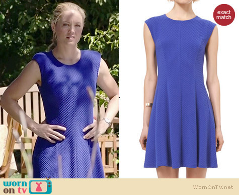 Rebecca Textured Ponte Dress worn by Erika Christensen on Parenthood
