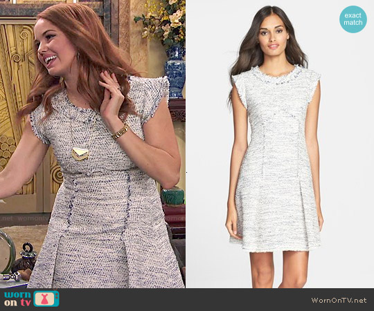 Rebecca Taylor Tweed A-Line Dress worn by Debby Ryan on Jessie