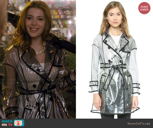 RED Valentino Clear Trench Coat worn by Elena Satine on Revenge