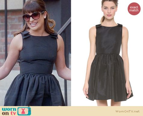 RED Valention Faille Dress worn by Lea Michele on Glee