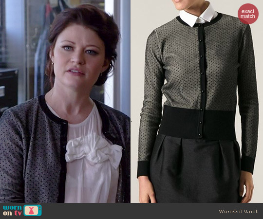 RED Valentino Fine Spot Cardigan worn by Emilie de Ravin on OUAT