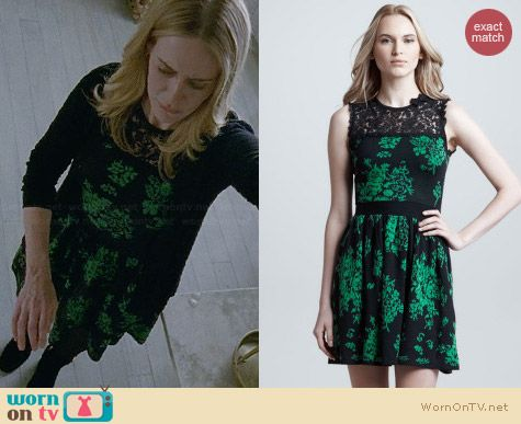 RED Valentino lace inset floral knit dress worn by Sarah Paulson on AHS Coven