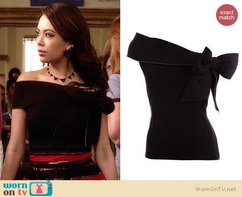 RED Valentino Bow Detail Top worn by Janel Parrish on PLL