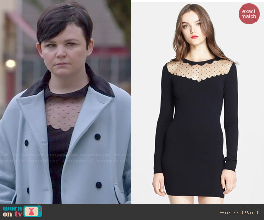 RED Valentino Point D'Esprit Yoke Dress worn by Ginnifer Goodwin on OUAT