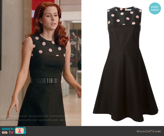RED Valentino Polka Dot Panel Dress worn by Leanne Lapp on iZombie