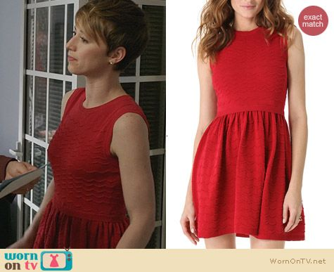 RED Valentino Scalloped Knit Sleeveless Dress worn by Karine Vanasse on Revenge