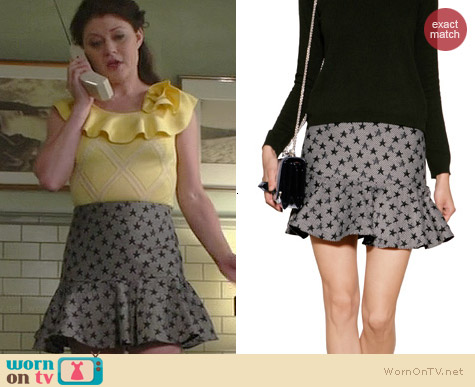 RED Valentino Star Skirt worn by Emilie de Ravin on OUAT