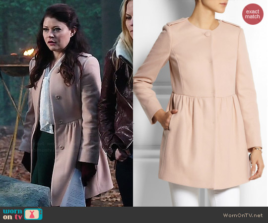 RED Valentino Wool Blend Coat worn by Emilie de Ravin on OUAT