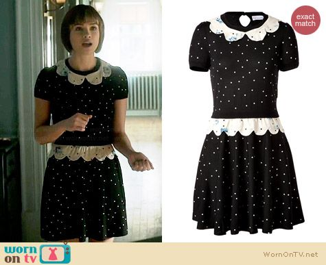 RED Valentino Wool Polka Dot Dress worn by Nicole Gale Anderson on BATB