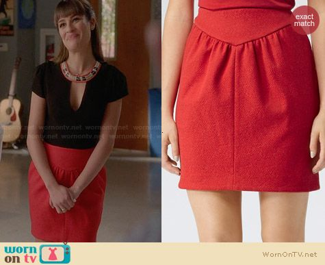 Reiss Charlene Skirt worn by Lea Michele on Glee