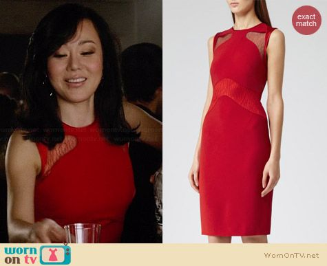 Reiss Evangeline Lace Panel Dress worn by Yunjin Kim on Mistresses