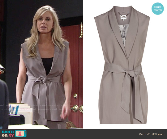 Reiss Karmine Gilet worn by Eileen Davidson on The Young & the Restless