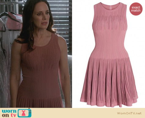 Fashion of Revenge: Alaia Pink Aigrette Dress worn by Victoria Grayson