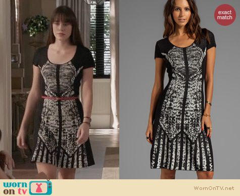 Fashion of Revenge: BCGMAXAZRIA Short Sleeve Printed Dress worn by Christa Allen