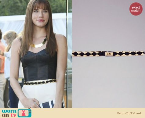 Revenge Fashion: Bebe Turnlock Stretch Belt worn by Christa Allen