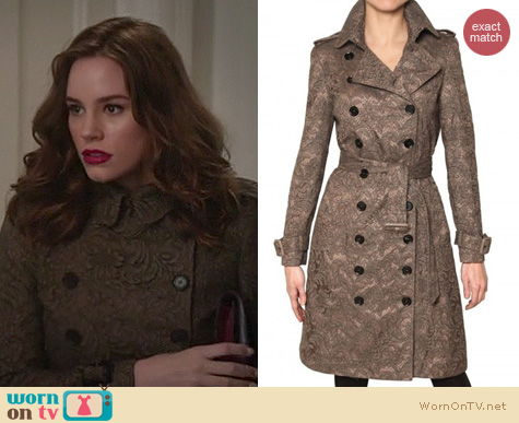 Revenge Fashion: Burberry Sherfield lace coat worn by Christa Allen