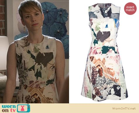 Fashion of Revenge: Carven Graphic Printed Sleeveless Dress worn by Karine Vanasse