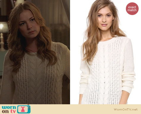Revenge Fashion: Club Monaco Casey Sweater worn by Emily VanCamp