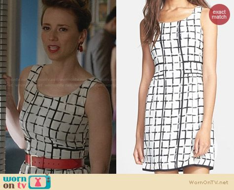 Fashion of Revenge: Collective Concepts Print A-Line Dress worn by Karine Vanasse