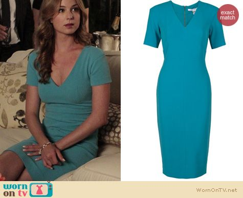 Revenge Fashion: Diane von Furstenberg Carpe Dress worn by Emily VanCamp
