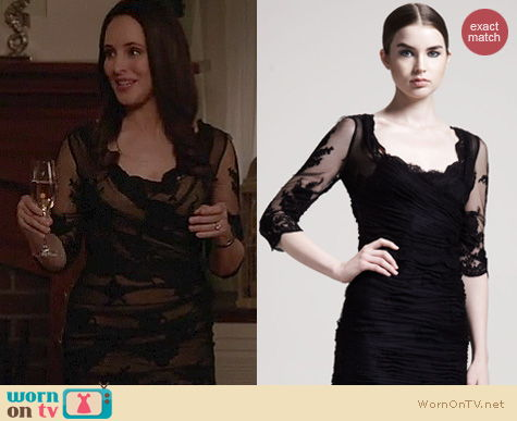 Revenge Fashion: Dolce & Gabbana elbow sleeve lace tulle dress worn by Madeleine Stowe