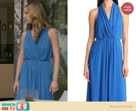 Fashion of Revenge: Ella Moss Stella Maxi Dress in Ocean worn by Emily VanCamp