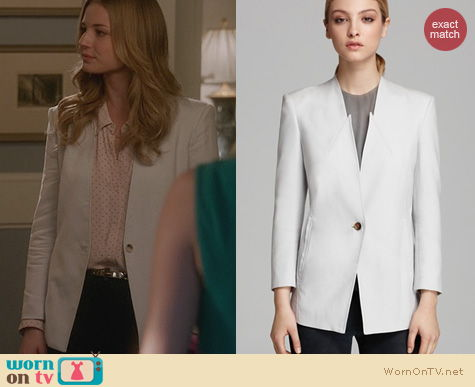 Fashion of Revenge: Helmut Lang Ark Suiting Blazer worn by Emily VanCamp