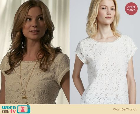 Revenge Fashion: Joie Basilica Top worn by Emily VanCamp