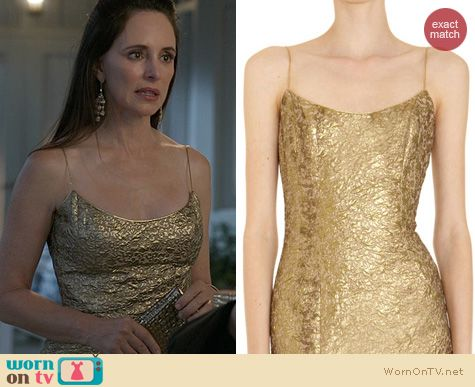 Revenge Fashion: L'Wren Jacquard Slip Dress worn by Madeleine Stowe