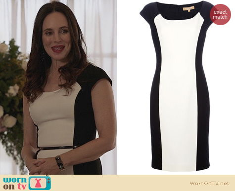 Revenge Fashion: Michael Kors Monochrome Shift Dress worn by Madeleine Stowe