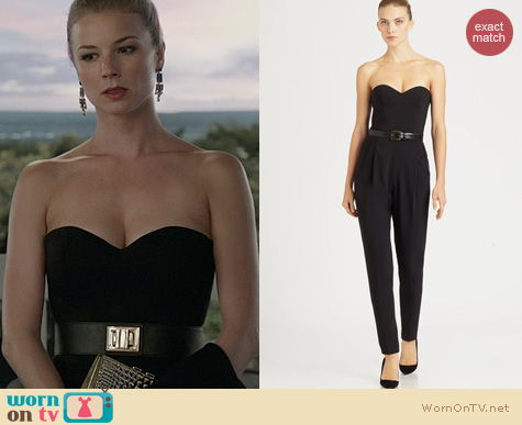 Revenge Fashion: Michael Kors Strapless Jumpsuit worn by Emily VanCamp