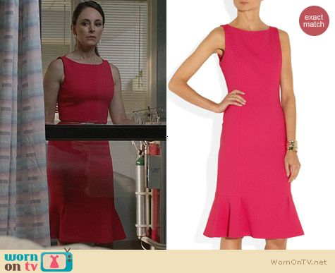 Fashion of Revenge: Michael Kors Wool-Crepe Dress worn by Madeleine Stowe