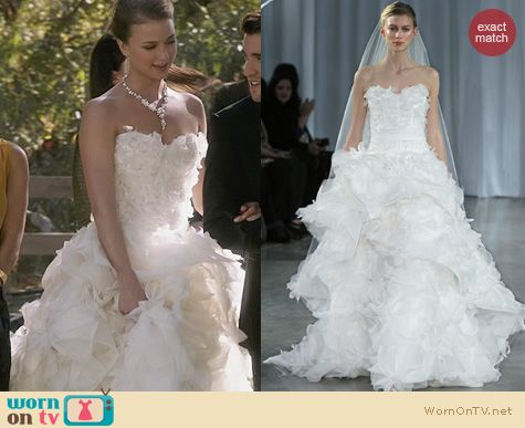 Fashion of Revenge: Monique Lhuillier Bridal Fall 2013 Collection Fantasy Dress worn by Emily VanCamp