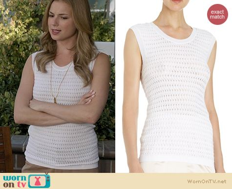 Revenge Fashion: Nina Ricci Textured Sleeveless Sweater worn by Emily Vancamp